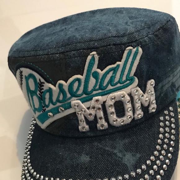 Baseball, softball, USA, and basketball bling hats